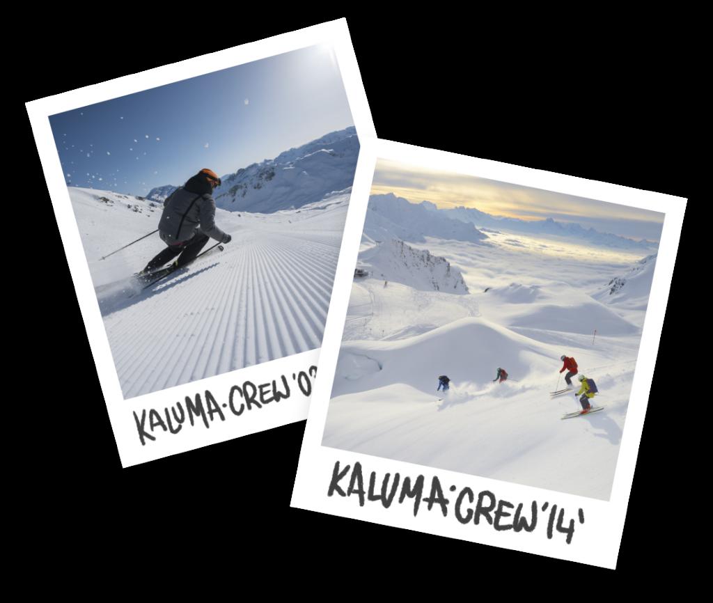 Kaluma Ski Tour Operator - Polaroid Images of Kaluma Crew