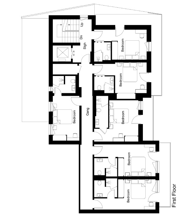 Chalet 47 Floor Plan - First Floor