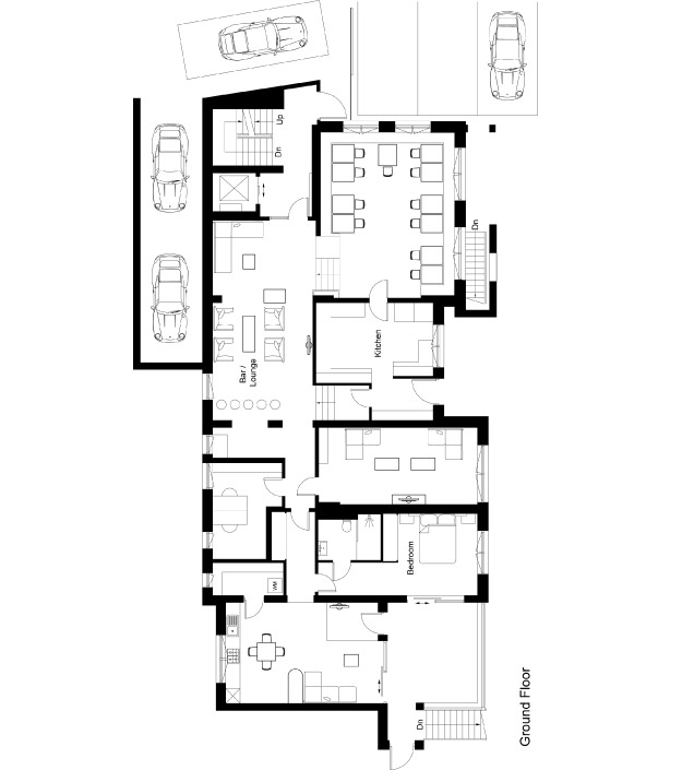 Chalet 47 Floor Plan - Ground Floor
