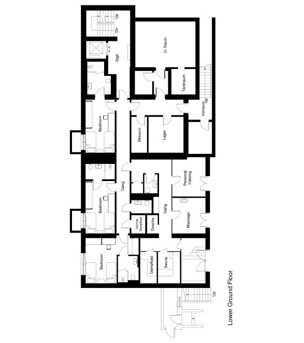 Chalet 47 Floor Plan - Lower Ground Floor
