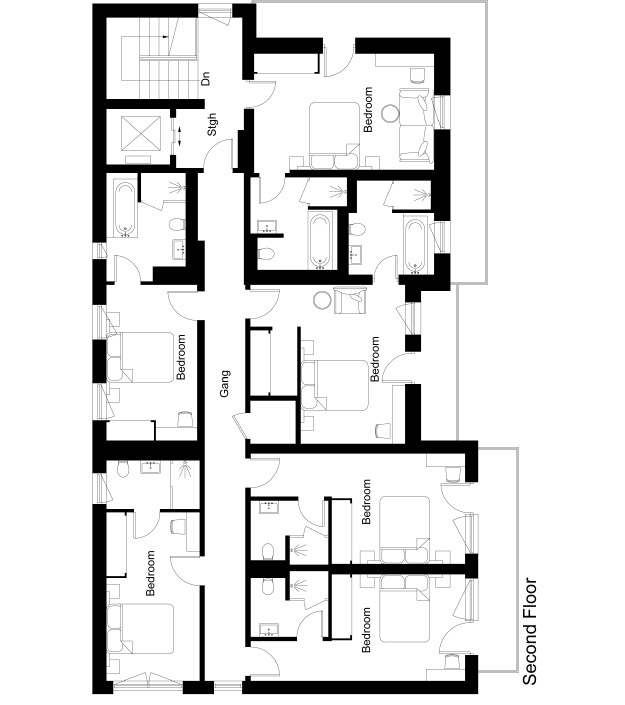 Chalet 47 Floor Plan - Second Floor