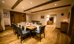 Dining room at Chalet 53 - Catered Ski Chalet in St Anton