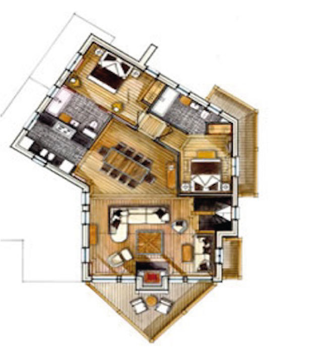 Chalet Black Pearl Floor Plan - First Floor