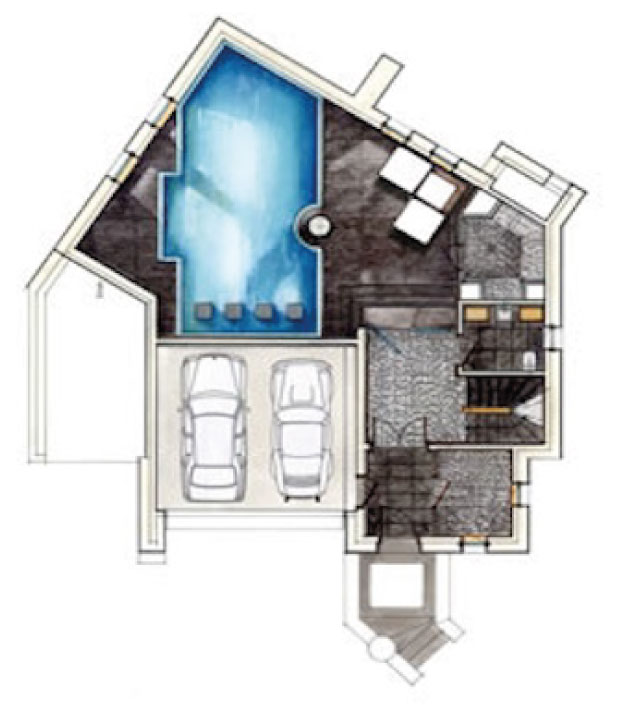 Chalet Black Pearl Floor Plan - Ground Floor