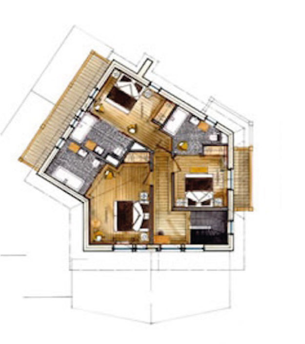 Chalet Black Pearl Floor Plan - Second Floor