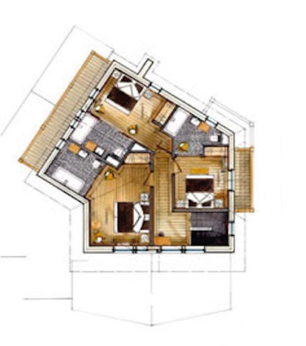 Chalet Black Pearl Floor Plan - Second Floor