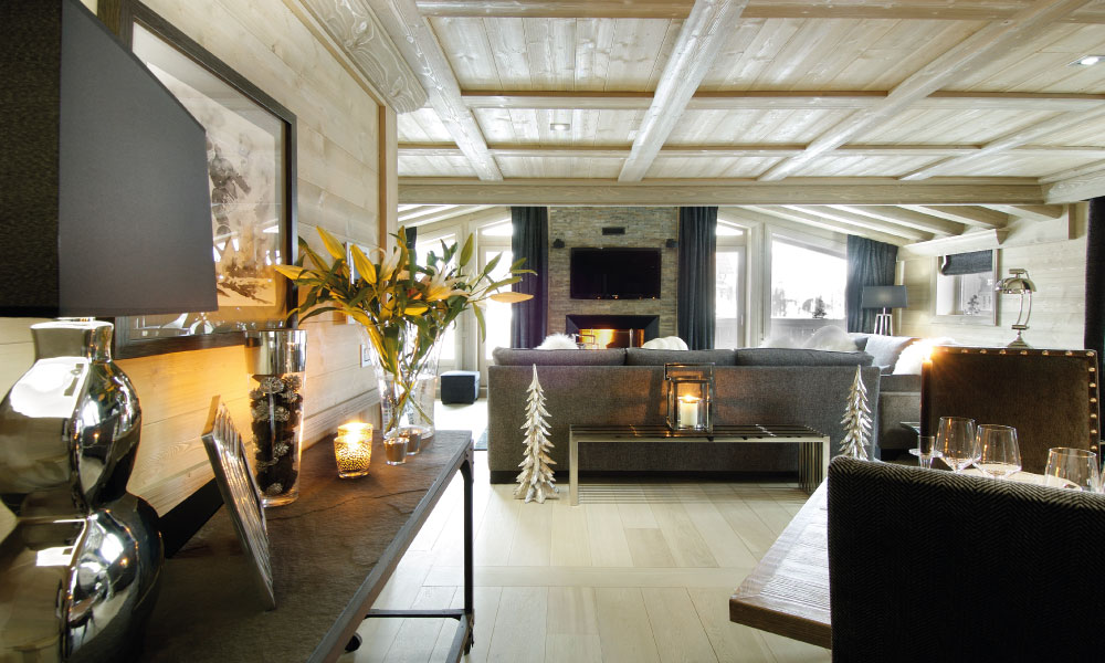Chalet Black Pearl Living Room - Luxury Ski Chalet, Val d'Isère