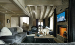Chalet Black Pearl Living Room - Luxury Ski Chalet, Val d'Isère