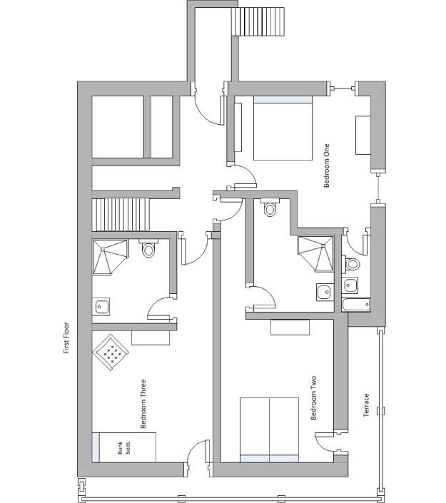 Chalet Chinchilla Floor Plan - First Floor