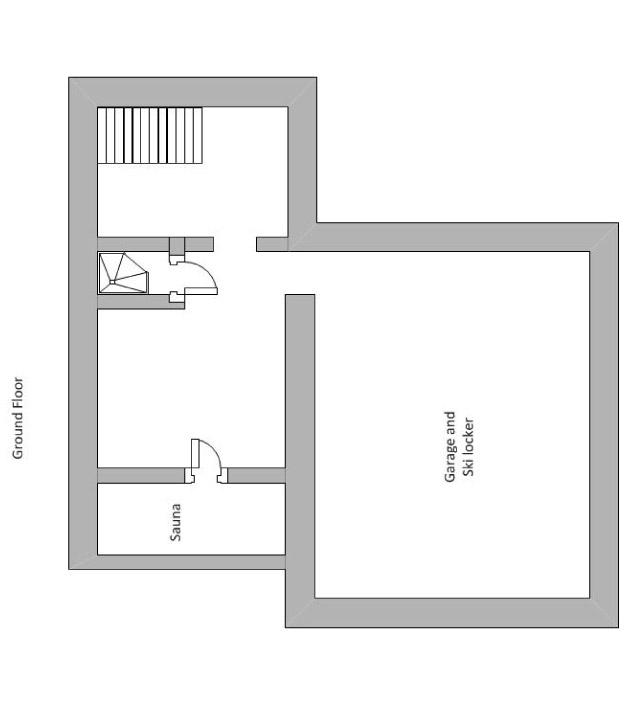 Chalet Chinchilla Floor Plan - Ground Floor