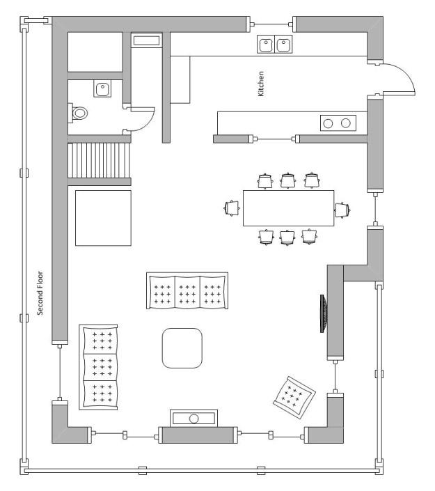 Chalet Chinchilla Floor Plan - Second Floor