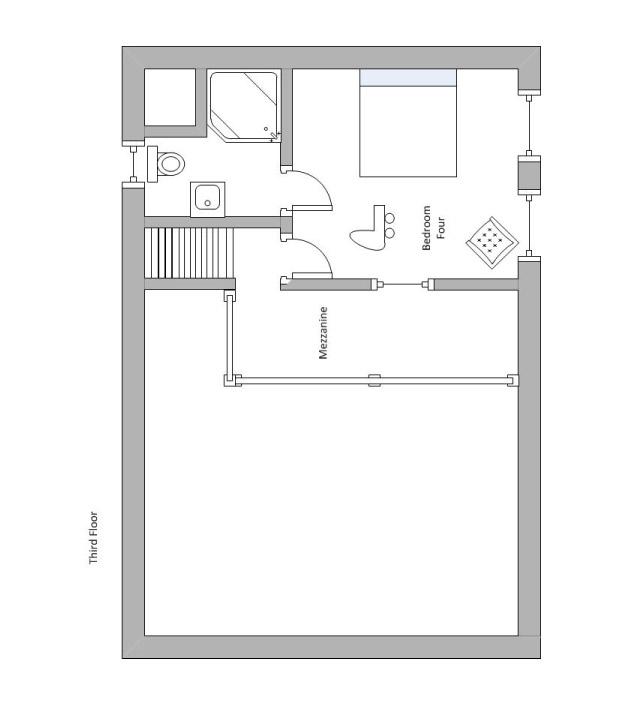 Chalet Chinchilla Floor Plan - Third floor