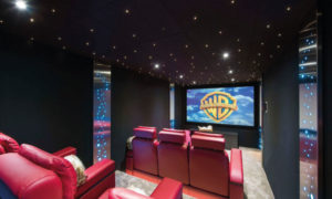 Cinema room at Chalet Chouqui, Verbier