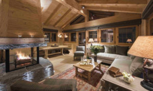 Living Room at Chalet Chouqui in Verbier