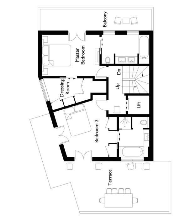 Chalet Colombe Floor Plan - Second Floor