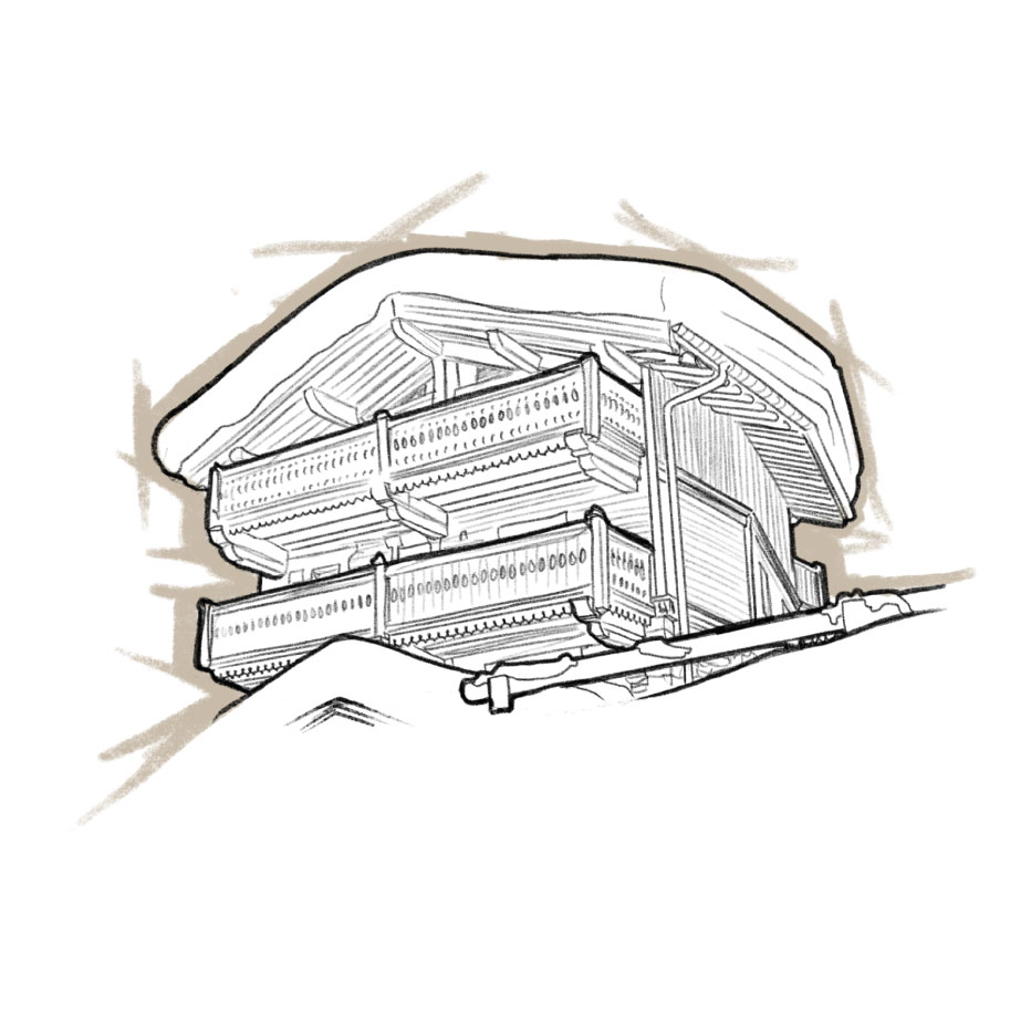 Chalet Colombe Sketch