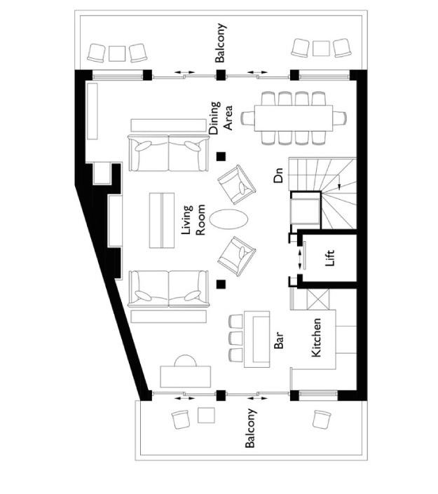 Chalet Colombe Floor Plan - Third Floor