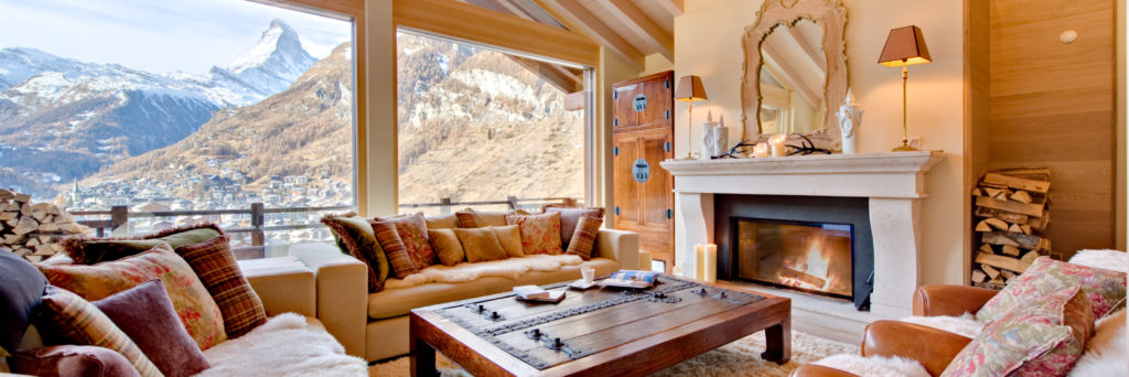 Chalet Grace Living Room with Mountain Views of the Matterhorn, Zermatt