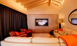 Cinema Room at Chalet Grace, Zermatt