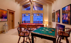 Games room at Chalet Grace in Zermatt