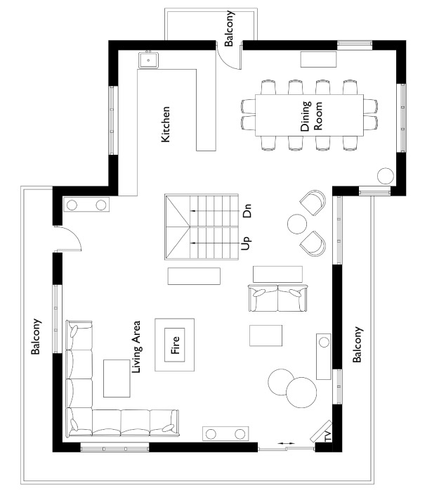 Chalet Hermine Floor Plan - Second Floor