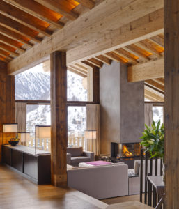 Chalet Les Anges Living Area - Luxury Ski Chalet in Zermatt