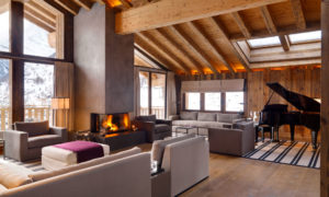 Chalet Les Anges in Zermatt - Living Room