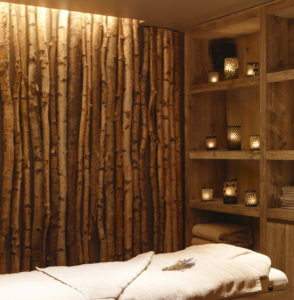 Massage room at Chalet Les Anges
