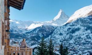 Views of the Matterhorn from Les Anges Balcony