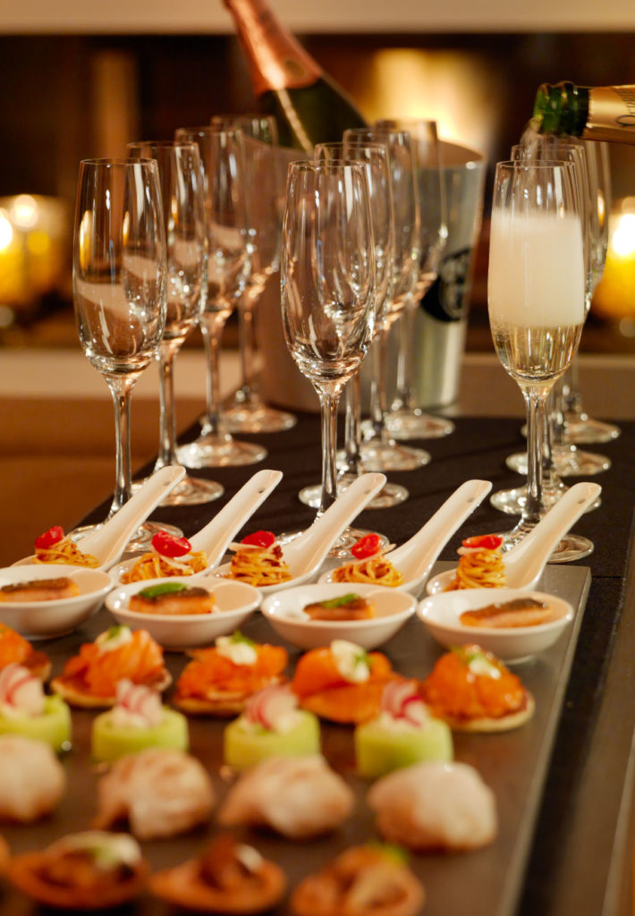Champagne & Canapés at Luxury Catered Ski Chalet in Zermatt