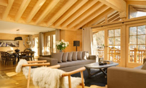 Living Room at Chalet Maurice, Zermatt
