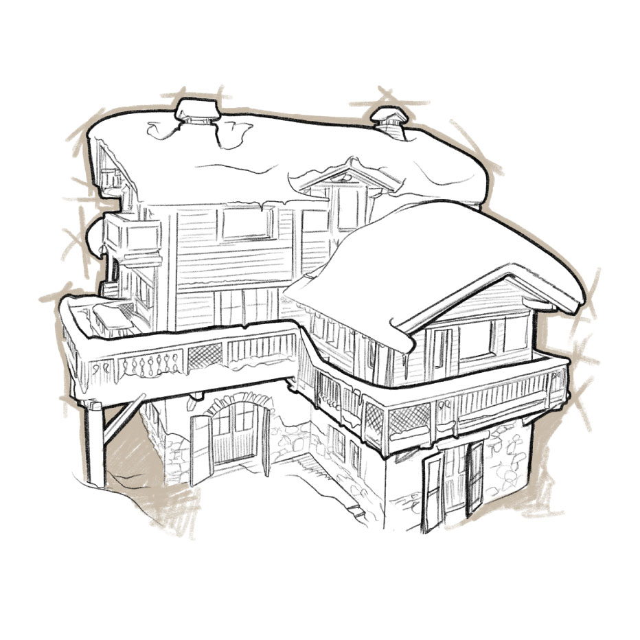 Sketch of Chalet Montana