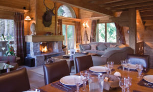 Chalet Chinchilla Dining Room & Living Room View