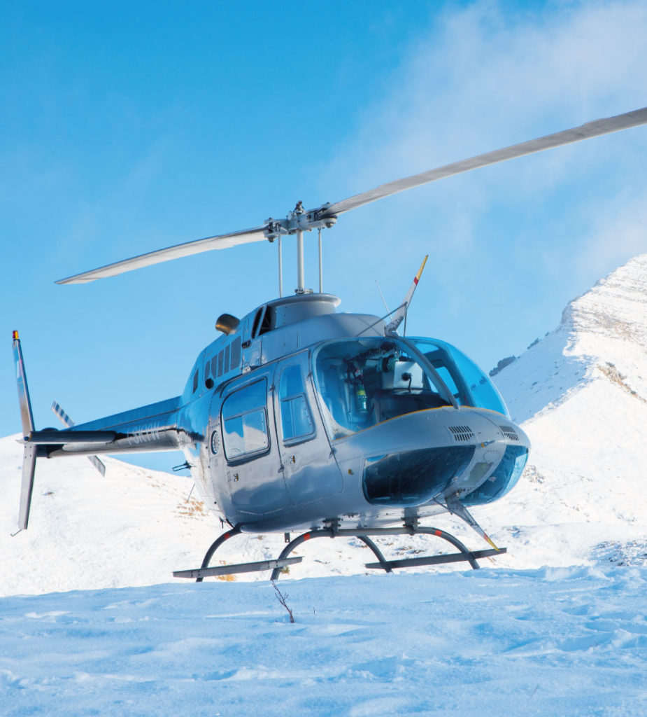 Ski Holiday - Heli-Transfers. All inclusive luxury ski holidays.