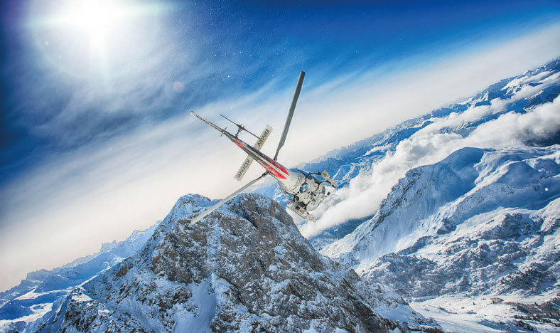 Helicopter over Lech - everything private
