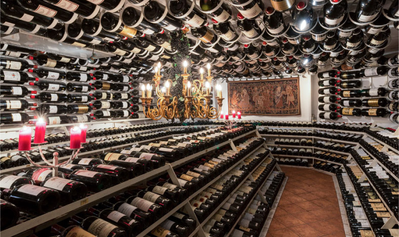 The Big Bottled Wine Cellar at the Hospiz Alm