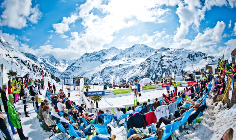 St Anton Snow Park Spectators