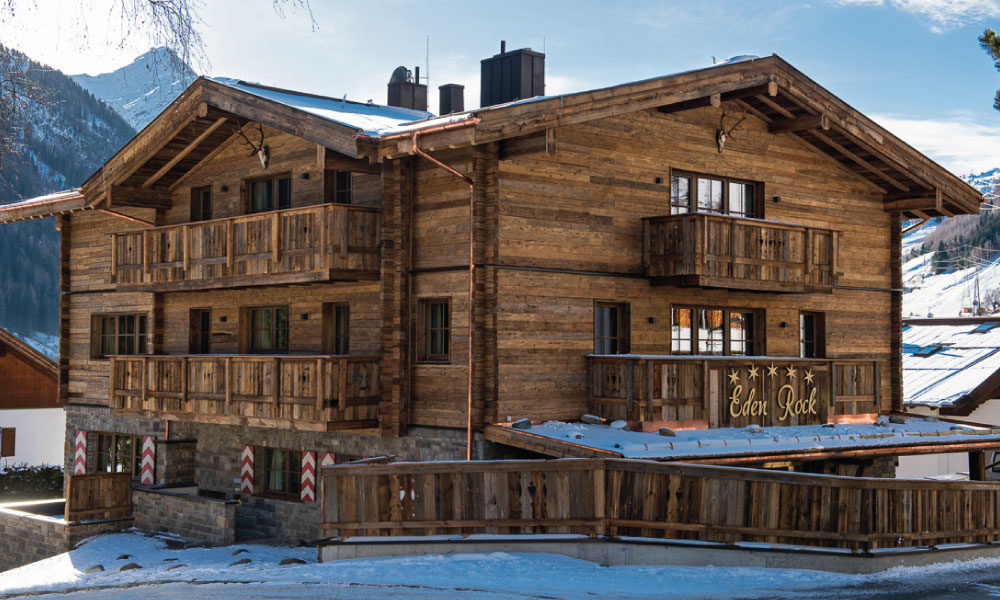 Eden Rock Exterior - One of Kaluma's Catered Ski Chalets