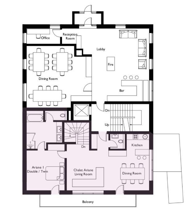 Chalet Eden Rock Floor Plan - Ground Floor