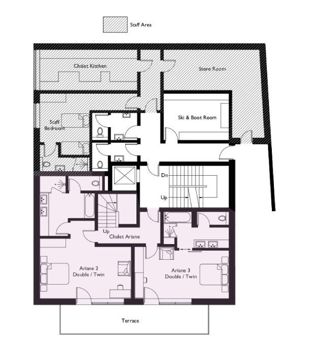 Chalet Eden Rock Floor Plan - Lower Ground Floor