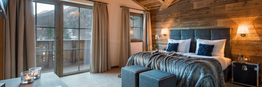 Chalet Kanzi Bedroom in Eden Rock, St Anton