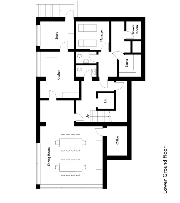 Chalet Montfort Floor Plan - Lower Ground Floor