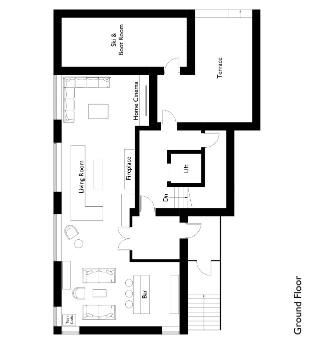 Chalet Montfort Floor Plan - Ground Floor