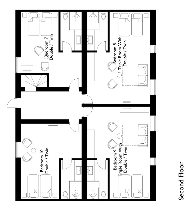Chalet Montfort Floor Plan - Second Floor