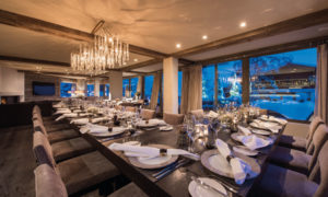 Dining Room at No. 14 in Verbier