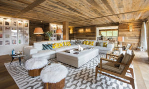 Living room at Place Blanche - luxury ski chalet in Verbier