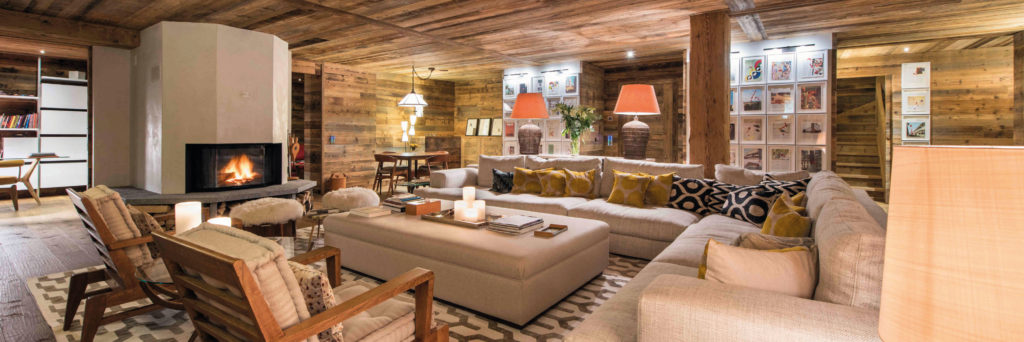 Chalet Place Blanche Living Room - Luxury Ski Chalet in Verbier