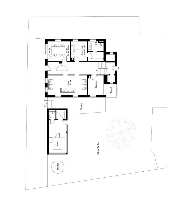 Sweet Little Home Floor Plan - Ground Floor