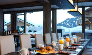 Breakfast table at The Lodge Verbier