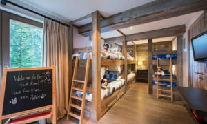 Kids bunk room at The Lodge Verbier